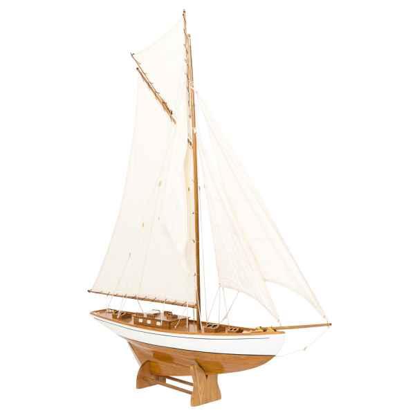 Modellschiff Segelyacht Yacht Holz Schiff Boot Segelschiff Schiffsmodell H:135cm