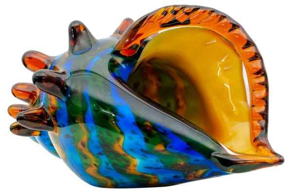 Glasfigur Figur Skulptur Glas Glasskulptur Muschel Murano-Stil Antik-Stil 30cm