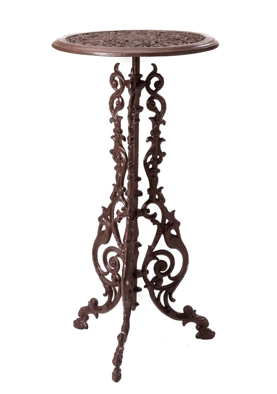 Gartentisch Gusseisen 9cm Tisch Beistelltisch Eisen Antik Stil braun