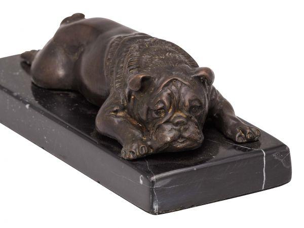 Bronzeskulptur Bulldogge Hund Bronze Skulptur Figur sculpture bulldog dog