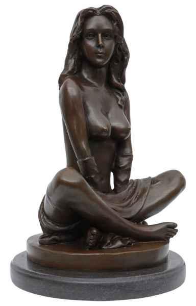 Bronzeskulptur Erotik erotische Kunst Frau Antik-Stil Bronze Figur Statue 26cm