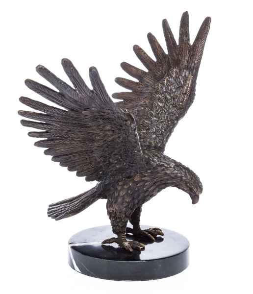 Details zu  Bronze Skulptur Adler Bronzeskulptur sculpture eagle im antiken Stil gefertigt
