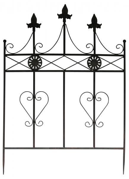Beetstecker Zaun Beeteinfassung Antik-Stil Metall Gartenzaun - 71cm