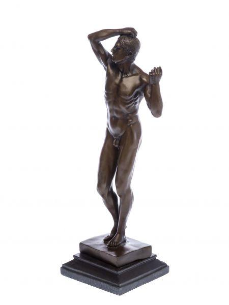 Bronzeskulptur erotische Kunst nach Rodin Bronze Akt Mann Figur Skulptur 47cm