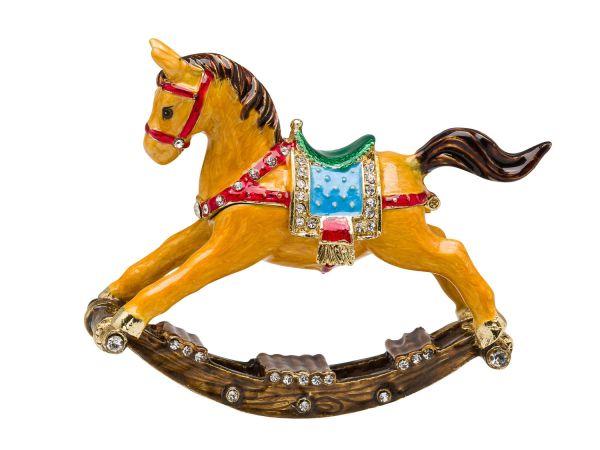 Schaukelpferd Pillendose Schmuckdose Pillenbox Box Dose Pferd Schatulle pillbox