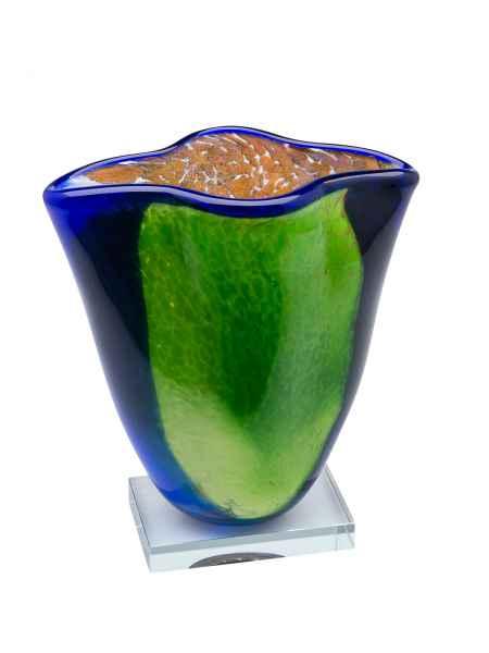 Glasvase im Italien Murano antik Stil Glas Vase Höhe 25cm schwere Tischvase 3kg