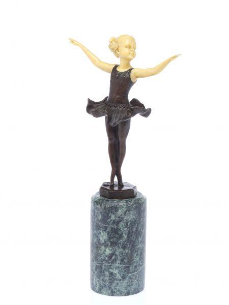 Bronze Skulptur nach Ferdinand Preiss Ballerina Ballett Tänzerin artdeco style