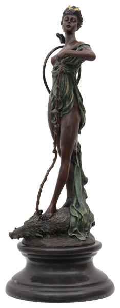 Bronzeskulptur Diana Victorius im Antik-Stil Bronze Figur Statue 47,6cm