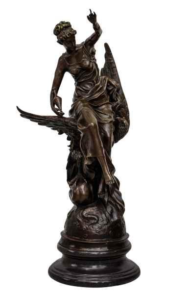 Bronzeskulptur Hebe Adler Jupiter Zeus im Antik-Stil Bronze Figur Statue 77cm