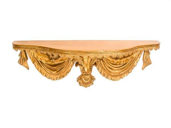 Regal Wandregal Konsole 93cm Verzierungen goldfarben im antik Stil corbel