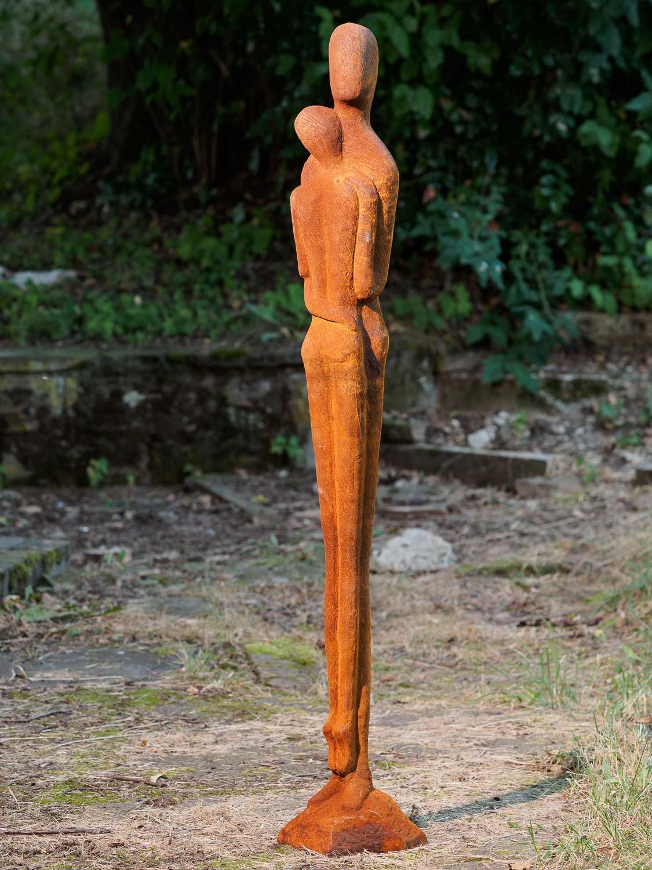 Romantic love sculpture couple statue modern art iron 130cm