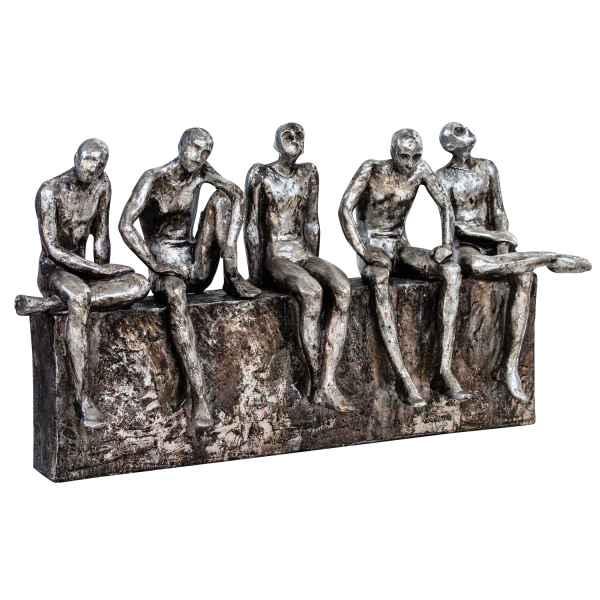 Skulptur Mann Männer Brücke Gerüst Figur Moderne Kunst Dekoration Antik-Stil
