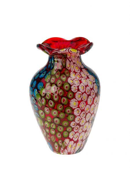 GLASVASE GLAS VASE IM ITALIEN MURANO ANTIK STIL HÖHE 19CM 1KG SCHWERE TISCHVASE