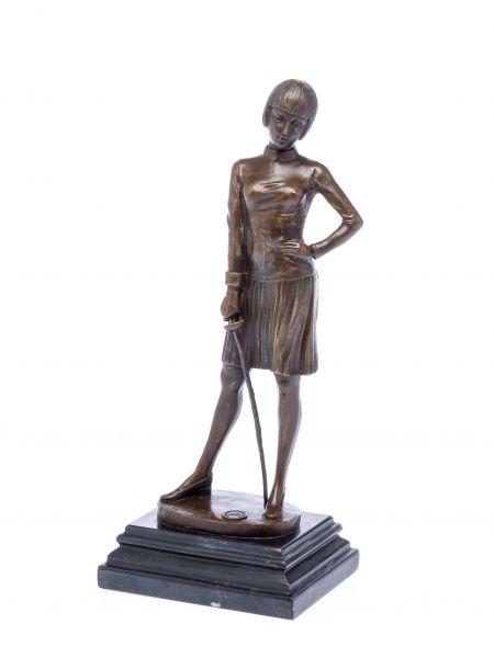 Bronze Skulptur nach Ferdinand Preiss fechten art deco style sculpture fencer