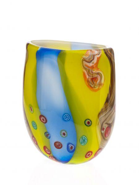 Glasvase Glas Vase im Murano Stil glass vase Antik Stil Tischvase