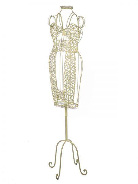 Nostalgische jurk van metalen garderobekast mute dienaar 155 cm creme wit