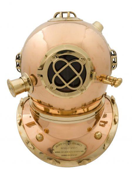 Taucherhelm Kupfer 45cm Maritim Taucherglocke diving helmet Helm antik Stil