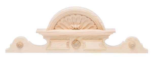 Schrankkrone Holz Schrank Aufsatz Krone 20cm x 63cm Bekrönung antik Stil