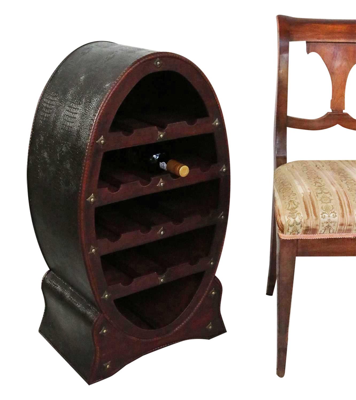 weinregal flaschenregal 80cm wein flasche regal antik stil holz weinschrank fass aubaho. Black Bedroom Furniture Sets. Home Design Ideas
