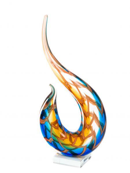 Glasfigur Modern glass Glaskunst moderne Kunst Objekt Skulptur Dekoration 40cm