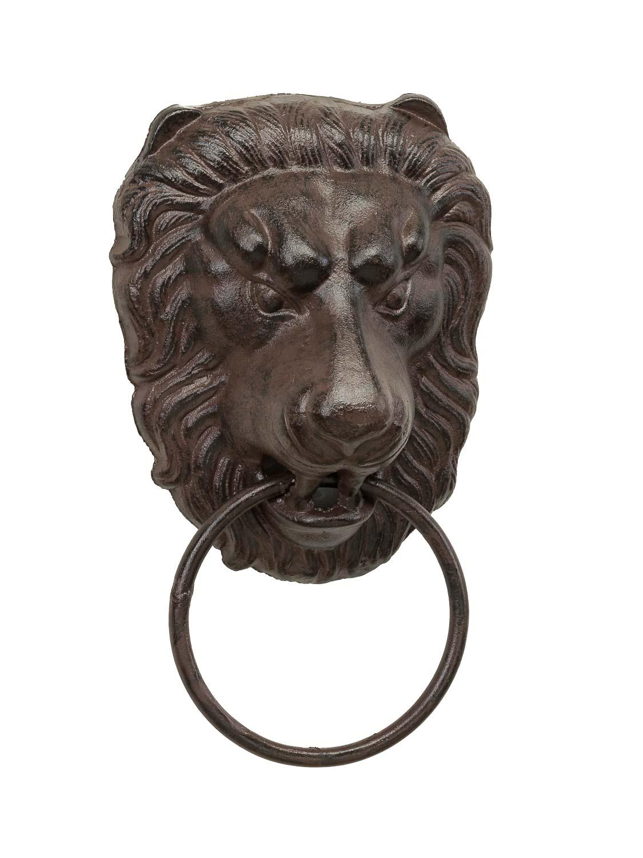 Handtuchhalter Ring Eisen Löwe Antik Stil Lion towel rail 33cm