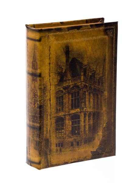 Schatulle Box Safe Holz Schmuck Buch Stadt Aufbewahrung Buchattrappe klein