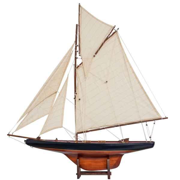 Modellschiff Holz Schiffsmodell Schiff Segelschiff 95cm Antik-Stil