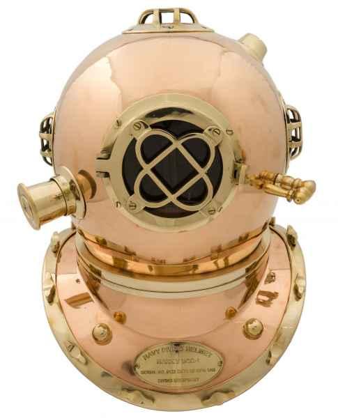Taucherhelm Kupfer 45cm Maritim Taucherglocke Tiefsee Taucher Helm