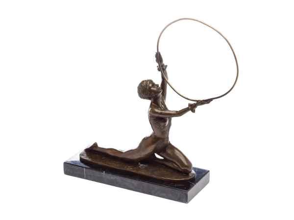 Bronze Skulptur nach Ferdinand Preiss Turnerin Bronzeskulptur Statue