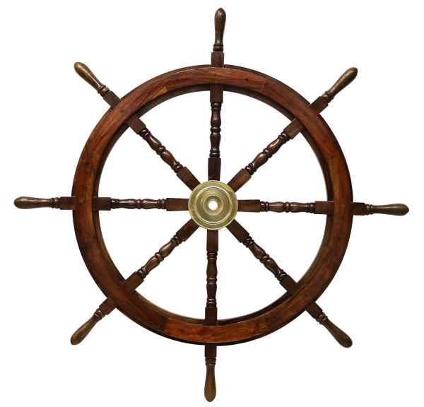 Schiffssteuerrad Schiffsrad Steuerrad Schiff Schiffe Boot 106cm Holz Antik-Stil