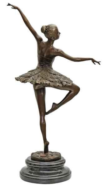 Scultura ballerina balletto in bronzo anticato figura statua 46cm