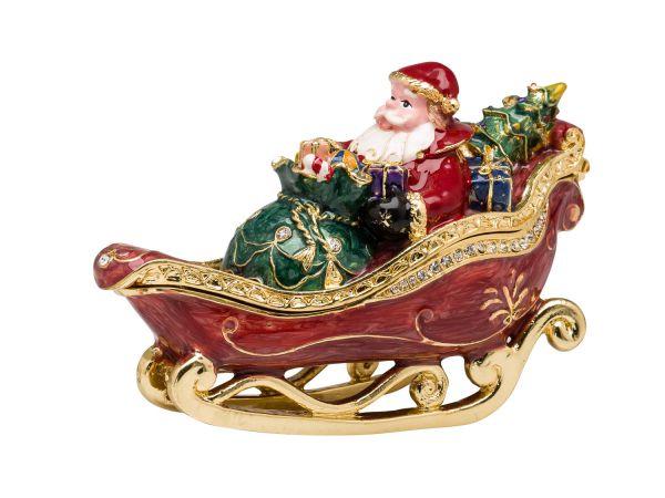 Weihnachtsmann Nikolaus Pillendose Schmuckdose Dose Pillenbox Box Schmuck