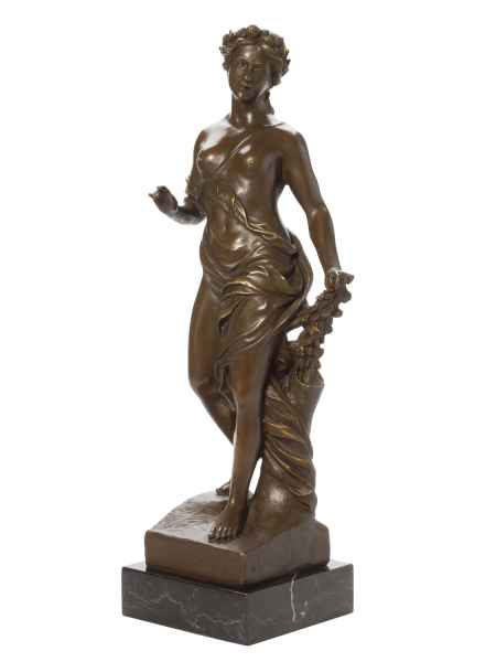 Bronze Frau Erotik Akt Bronzefigur Bronzeskulptur Nymphe Figur antik Stil