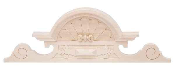 Schrankkrone Linde Schrankaufsatz Möbelkrone 19cm x 60cm Bekrönung antik Stil