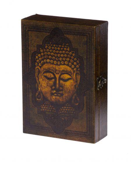 Schlüsselkasten Buddha Holz Schlüssel Schlüsselschrank Antikstil keyholder box
