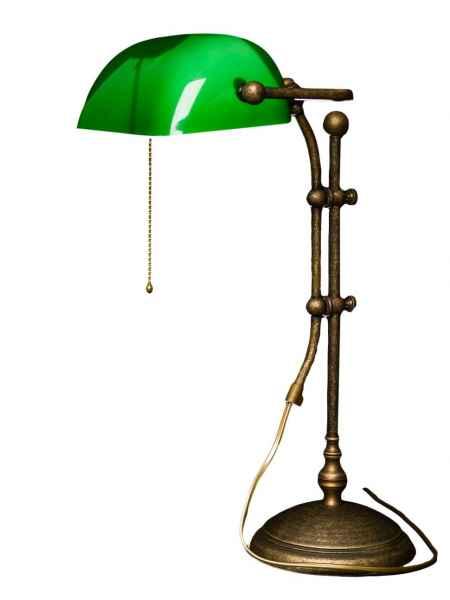 Bankerslamp Tischlampe Banker Lamp Messing brüniert Schreibtischlampe Lampe