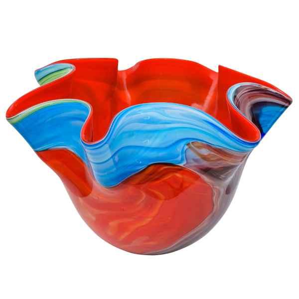 Glasvase Vase Glas Blumenvase im Murano Antik-Stil - 24cm