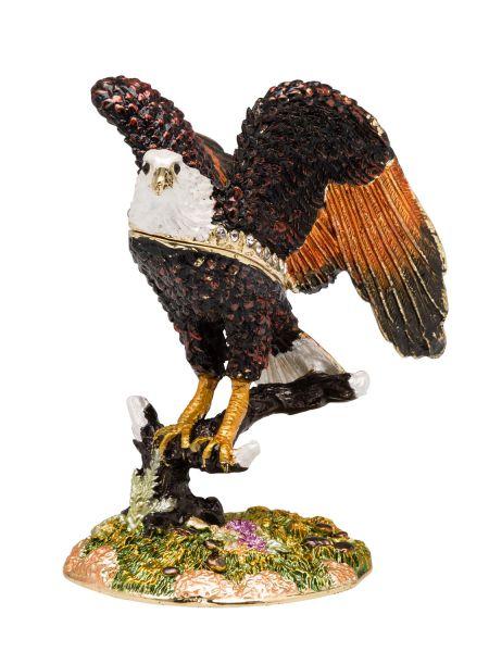 Adler Pillendose Schmuckdose Dose Pillenbox Box Pille Figur Schatulle eagle
