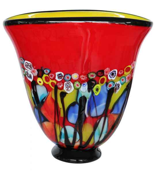 Glasvase Vase Glas im Murano Antik Stil 28cm