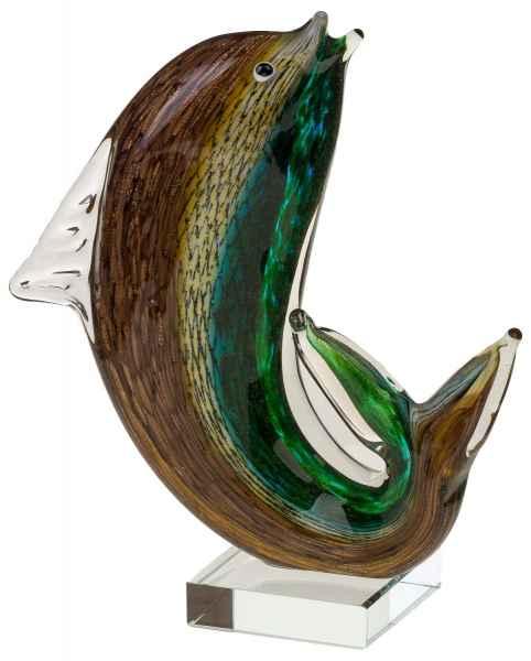 Glasfigur Figur Fisch Tier Glas im Murano Antik-Stil 25cm