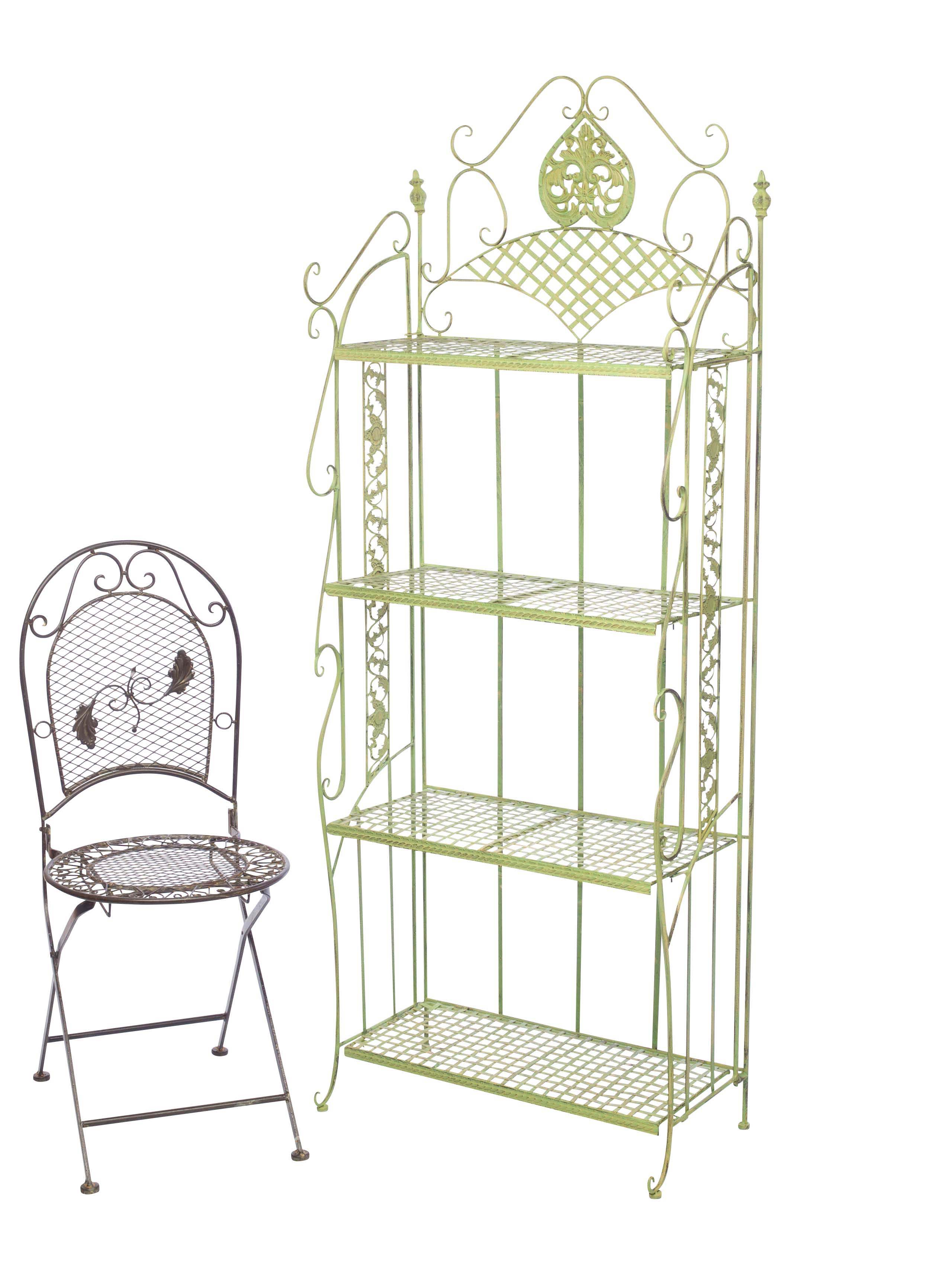 Delicieux Garden Shelf Iron Wrought Iron Furniture 175cm Antique Green 13kg