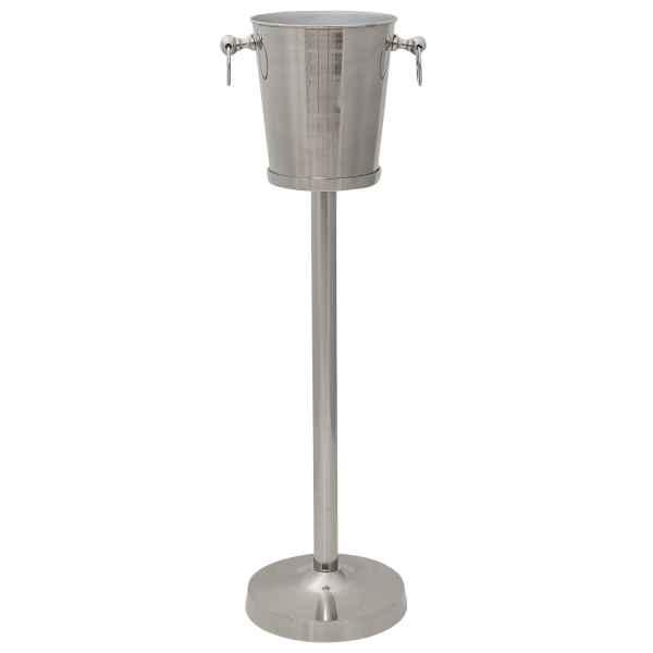 Sektkühler mit Ständer Weinkühler Flaschenkühler Sektkübel vernickelt 91cm