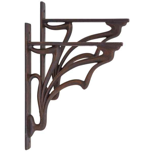 2x Regalstützen Regalhalter Regalträger Regal Halter Eisen 30cm Antik-Stil