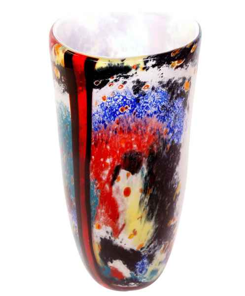 Glasvase Vase Glas im Murano Stil Antik Stil 38cm