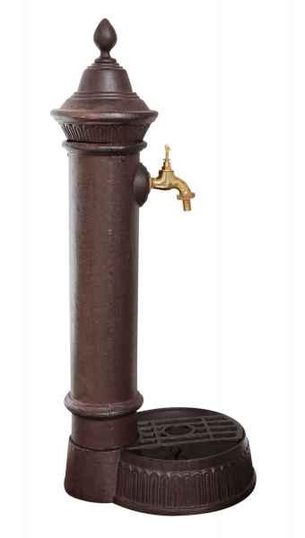 Standbrunnen 73cm alu brunnen waschbecken garten im antik for Garten waschbecken antik