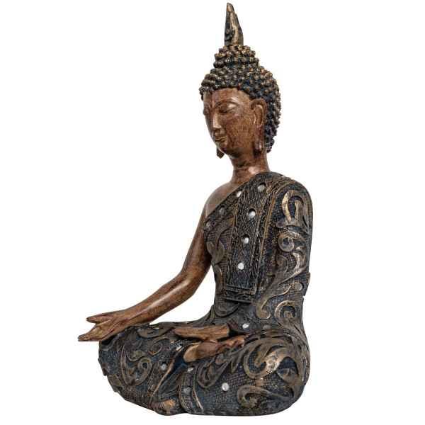 Buddha Meditation Feng Shui Figur Skulptur Asien Dekoration Antik-Stil - 34cm