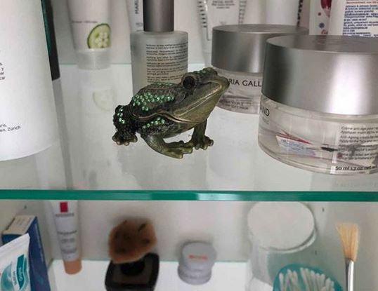 Unsere Schmuckschatulle Frosch hat einen tollen Platz gefunden. Dankeschön für das Foto.