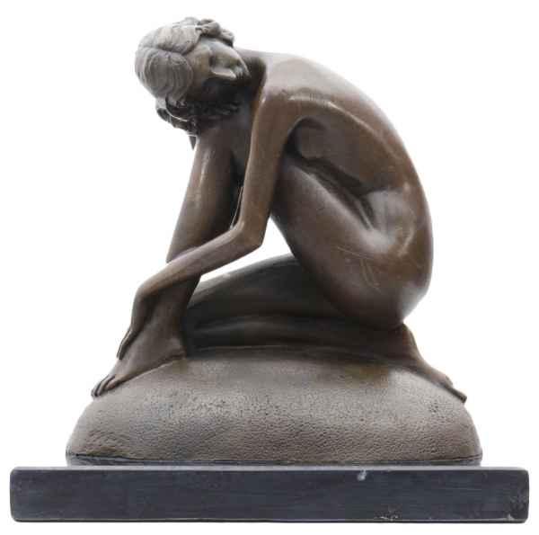 Bronzeskulptur Traum Erotik erotische Kunst Antik-Stil Bronze Figur Statue 17cm