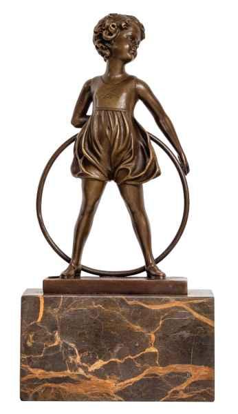 Statue de bronze sculpture figurine - 13 x 26 x 7cm (L x H x P)