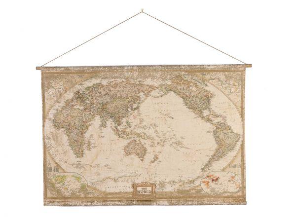 Landkarte Weltkarte Historische Karte 162cm Globus Rollkarte antik Stil wall map